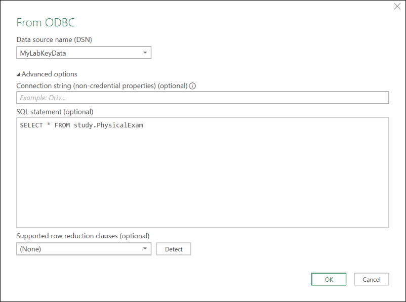 External ODBC Connections: /Documentation