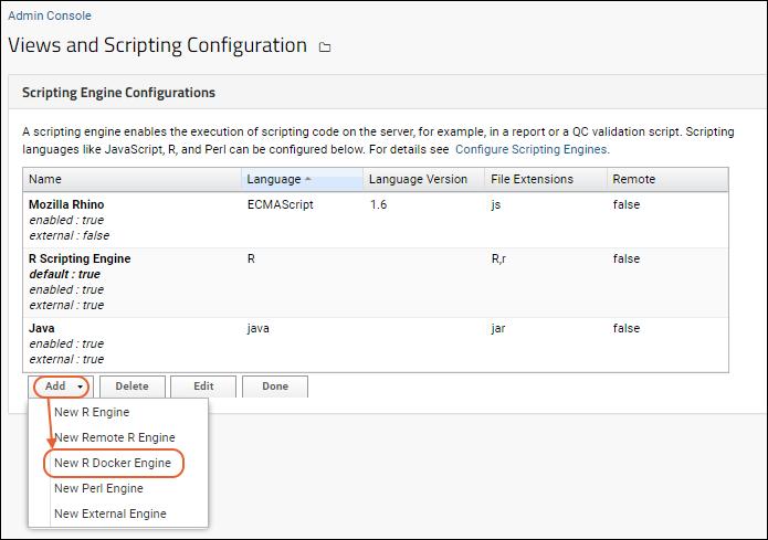 Configure an R Docker Engine: /Documentation