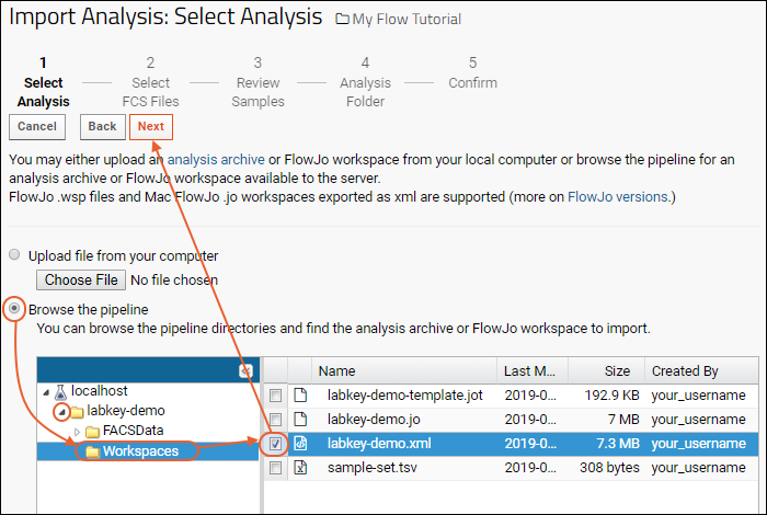 Import A Flow Workspace And Analysis Documentation