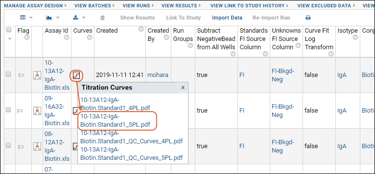 Step 4: View 4pl and 5pl Curve Fits: /Documentation