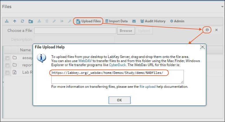 Upload Files: WebDAV: /Documentation