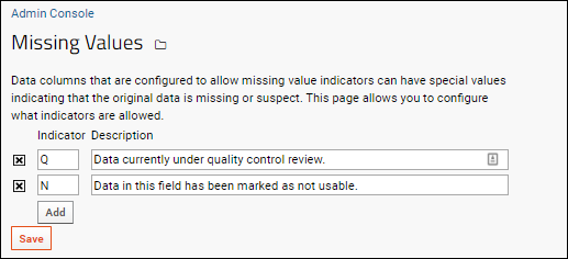 Manage Missing Value Indicators / Out of Range Values