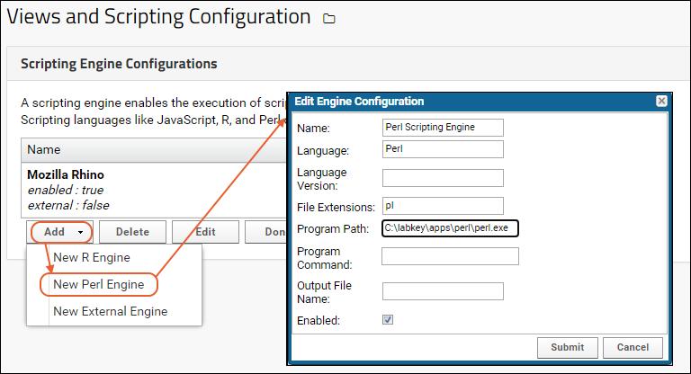Configure Scripting Engines: /Documentation