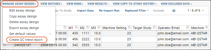 Define Qc Trend Report Documentation