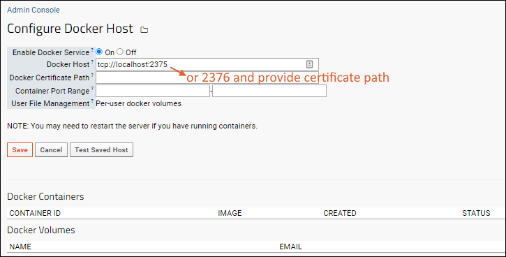 Configure Docker Host: /Documentation