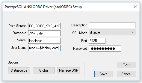 ODBC Data Sources and SQL Server Reporting Service (SSRS
